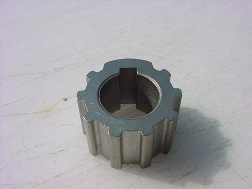 Impeller insert for marine equipment
