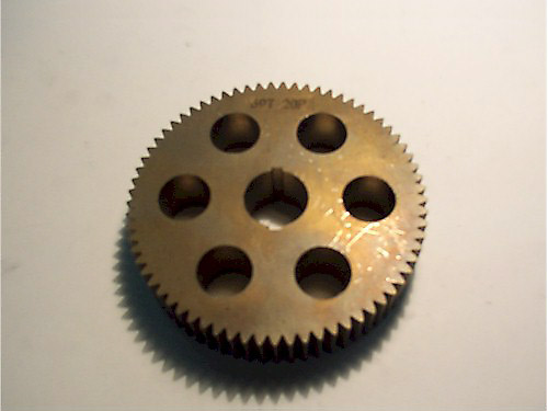 Spur gears with lightening holes