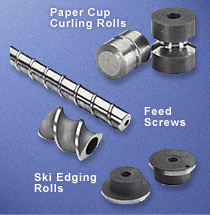 Feed Screws, Ski Edging Rolls, Paper Cup Curling Rolls