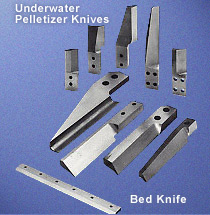 Underwater Pelletizer Knives, Bed Knives